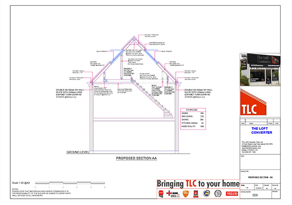 Loft Conversion Planning Drawing, Essex, Brentwood