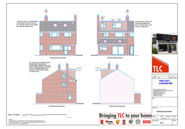 Dormer Loft Planning Drawing, Essex, Epping
